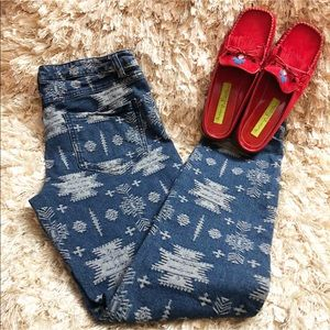 Aztec Print Blue Jeans Very Stunning